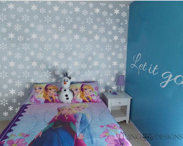 Plantilla decorativa frase let it go plantillas - Plantillas decorativas pared ...