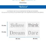Medidas Believe (Small)