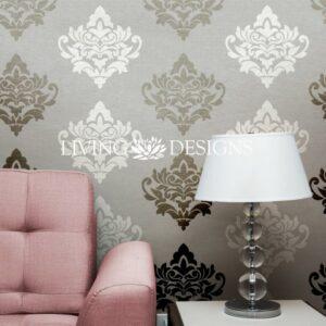 Plantillas decorativas stencils para pintar y decorar paredes con efecto papel tapiz - Plantillas decorativas para pintar paredes ...