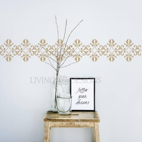 Plantilla decorativa cenefa para pintar y decorar paredes - Como hacer plantillas para pintar paredes ...