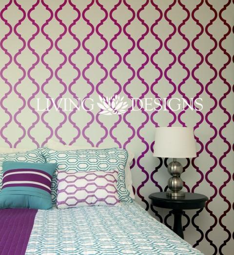 Plantilla decorativa stencil para el dise o de interiores - Plantillas decorativas pared ...