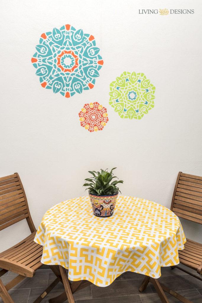C mo pintar una pared texturizada exterior con plantillas decorativas plantillas decorativas - Plantillas decorativas para pintar paredes ...