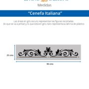Medidas Cenefa Italiana