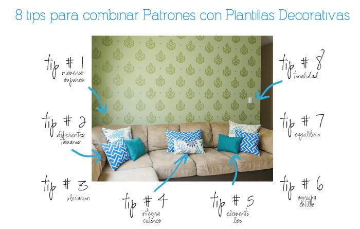 Combinar papel y pintura tips para combinar patrones - Combinar papel y pintura ...