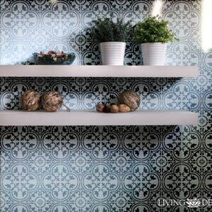 Plantilla decorativa para pintar paredes con efecto papel tapiz