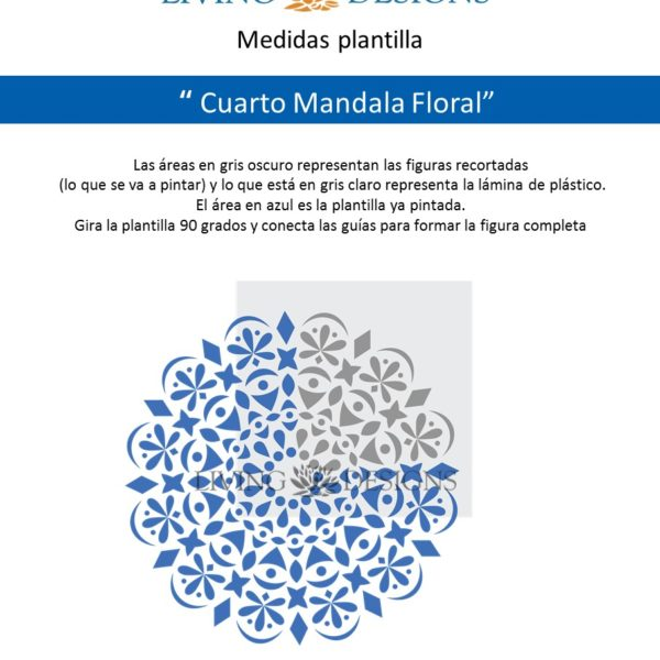 Medidas Cuarto Mandala Floral.