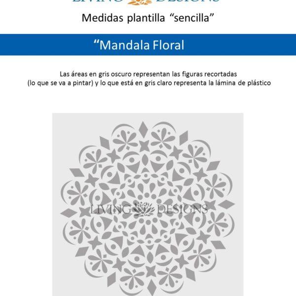 Medidas Mandala Floral