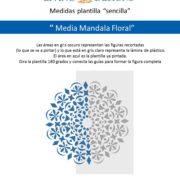 Medidas media Mandala Floral