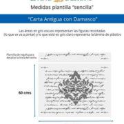 Medidas Carta Antigua con Damasco (Small)