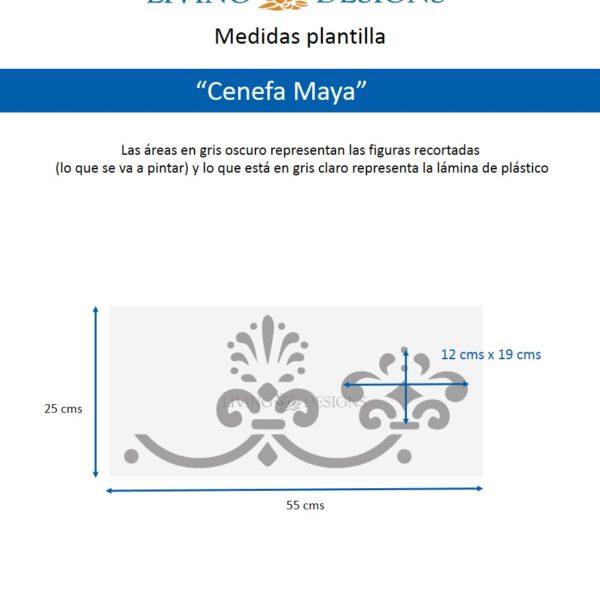 Medidas cenefa Maya