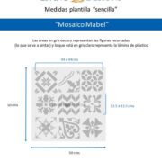 Medidas Mosaico Mabel