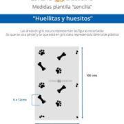 Medidas Huellitas y Huesitos (Small)