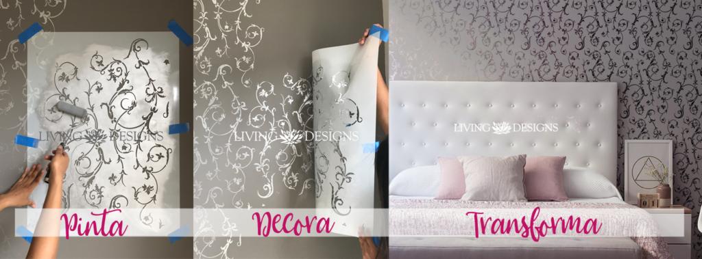 Plantillas decorativas stencils para pintar y decorar - Plantillas de letras para pintar paredes ...