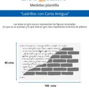 Medidas Ladrillos con Carta Antigua